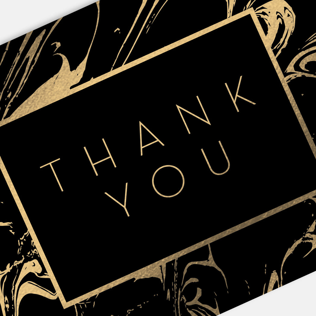 Rich Swirl Thank You Cards – Detail View
