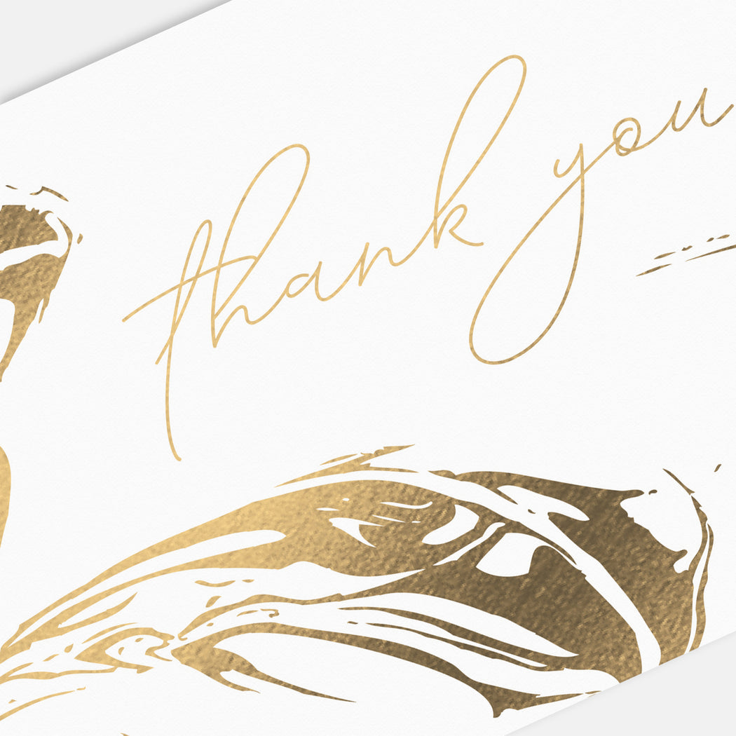 Stamped Swirl Thank You Cards – Detail View