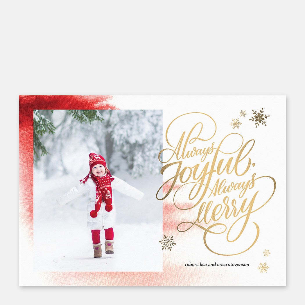 Always Merry Holiday Cards – Front View