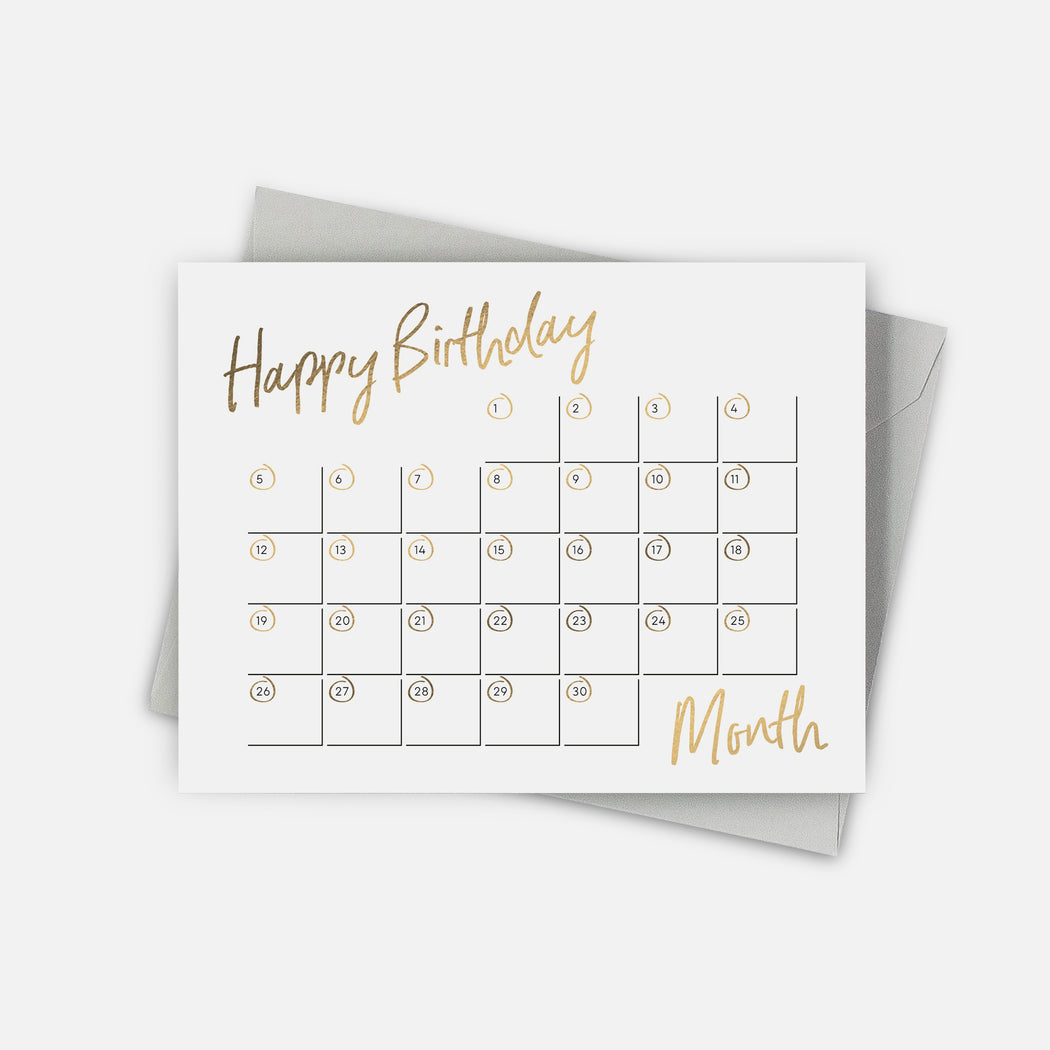 Birthday Calendar Card