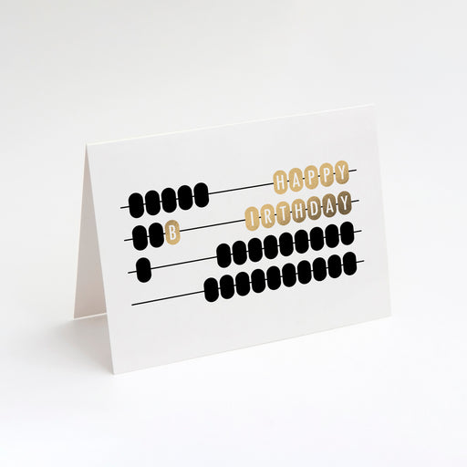 Abacus Birthday Card