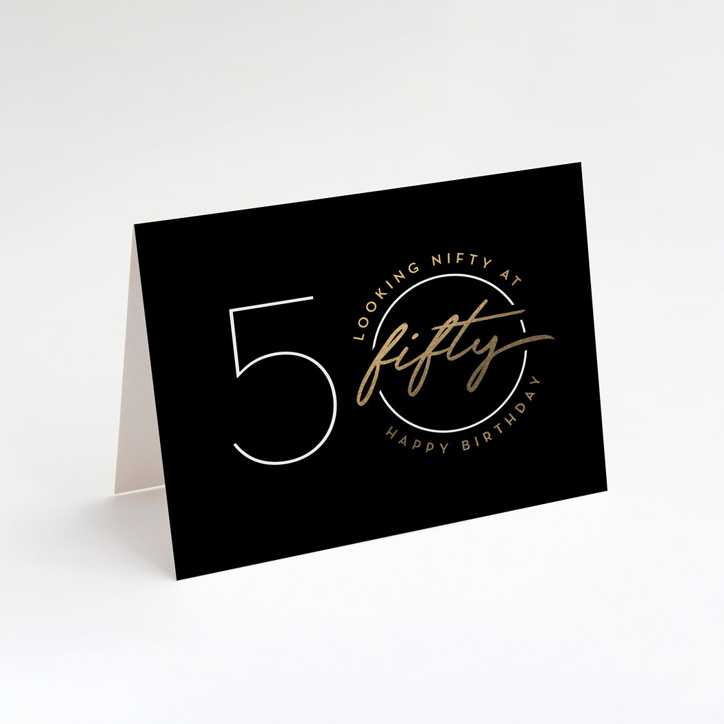 Nifty Fifty Birthday Card