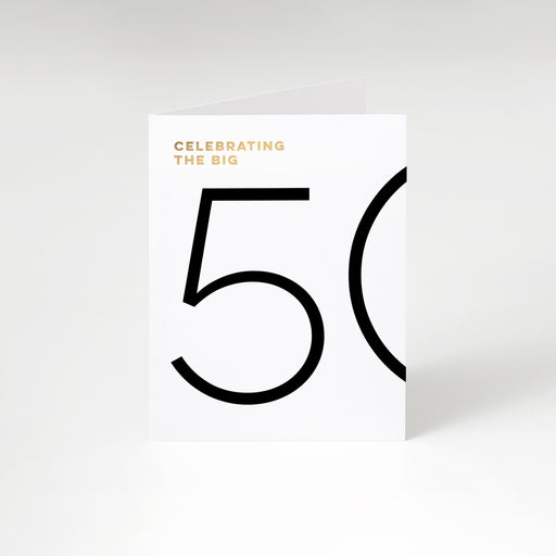 The Big 50 Birthday Card