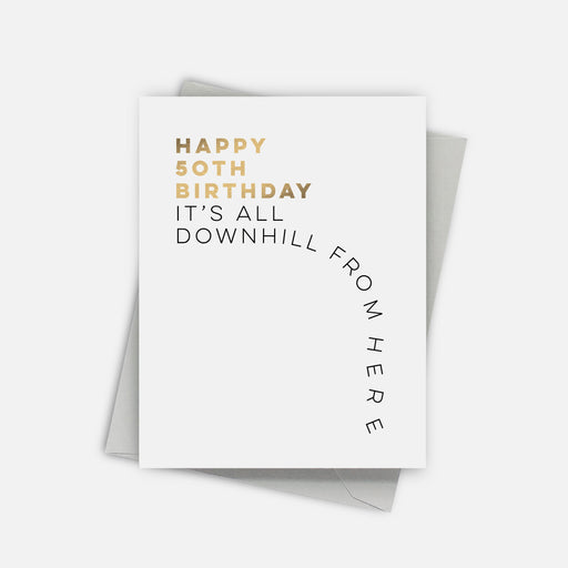 Downhill 50 Birthday Card