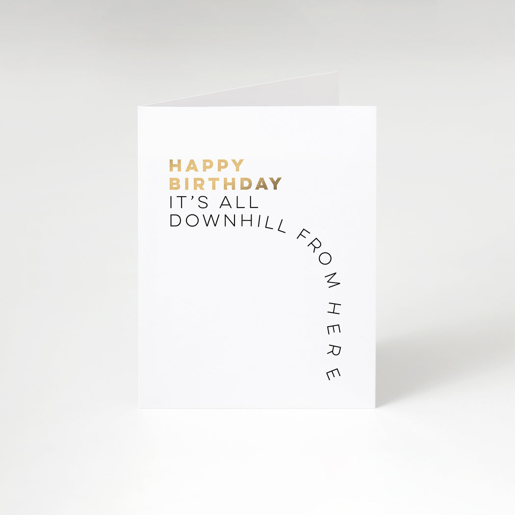 Downhill Birthday Card