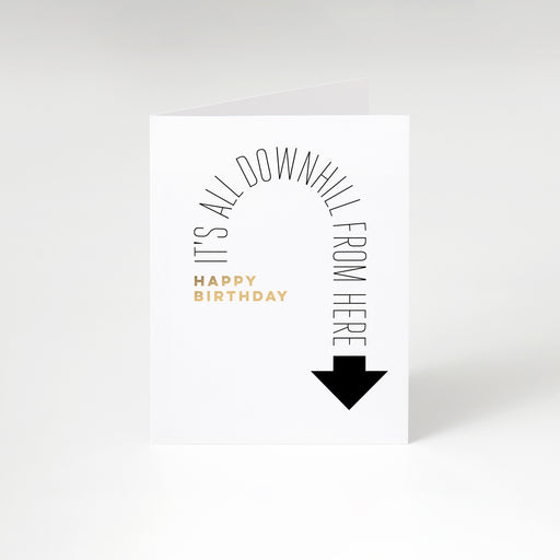 Down Arrow Birthday Card