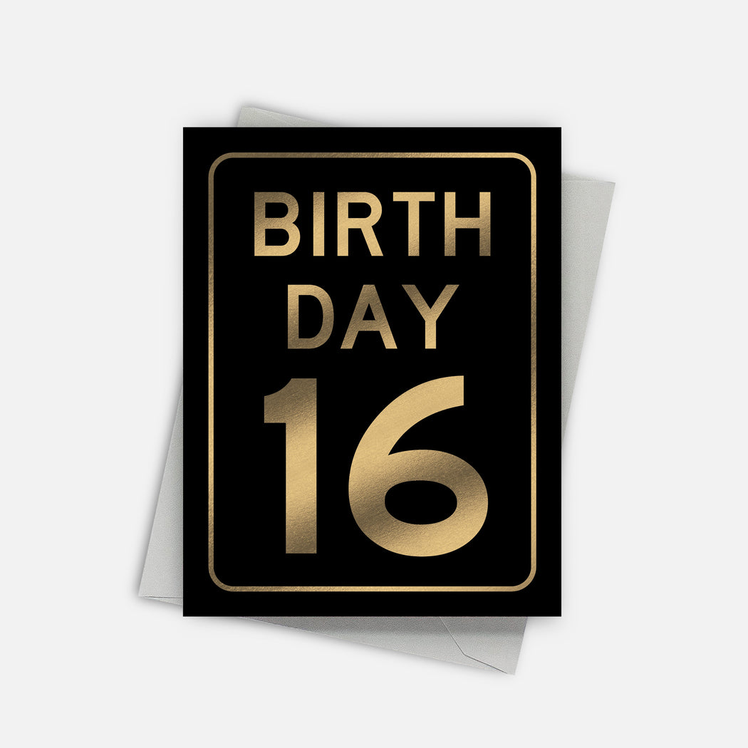 Birthday 16 Card