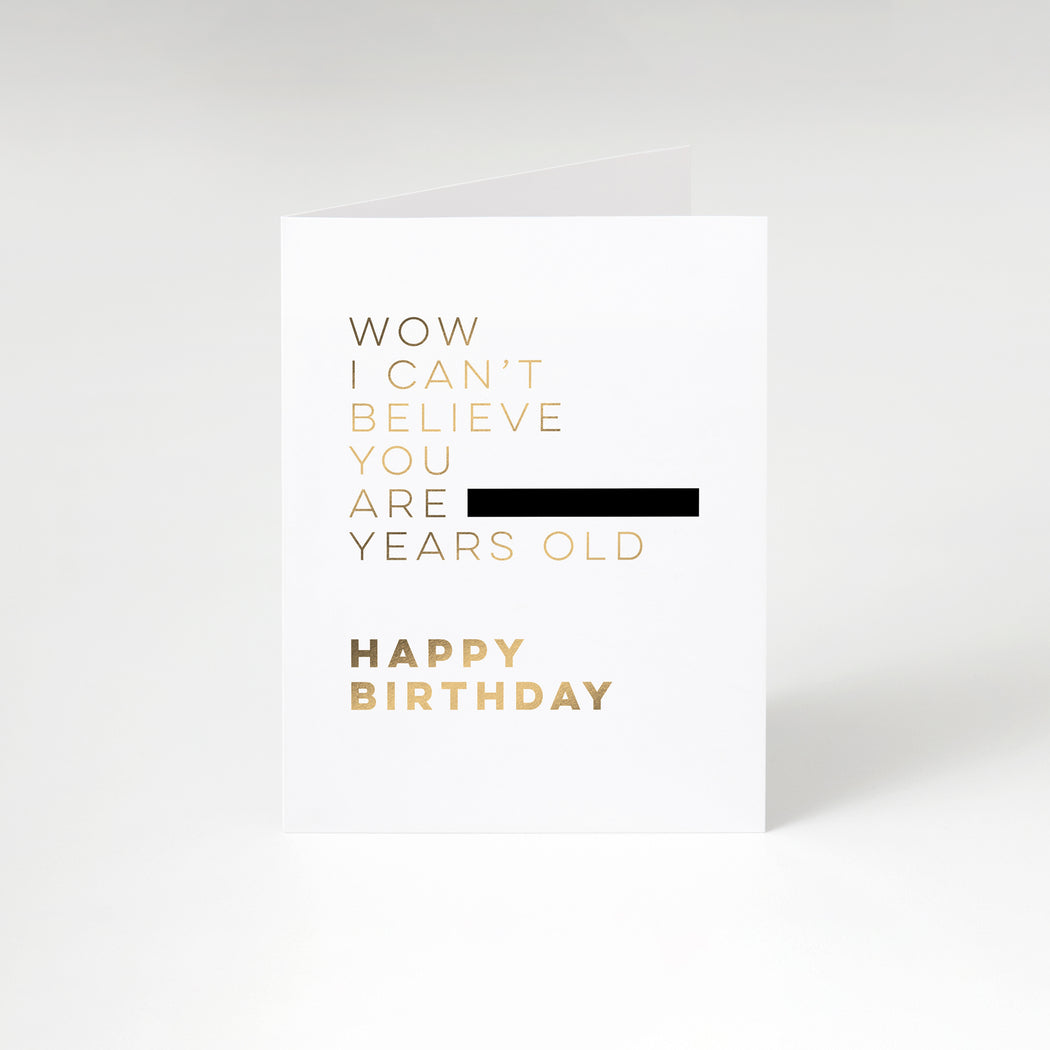 Blocked Out Birthday Card