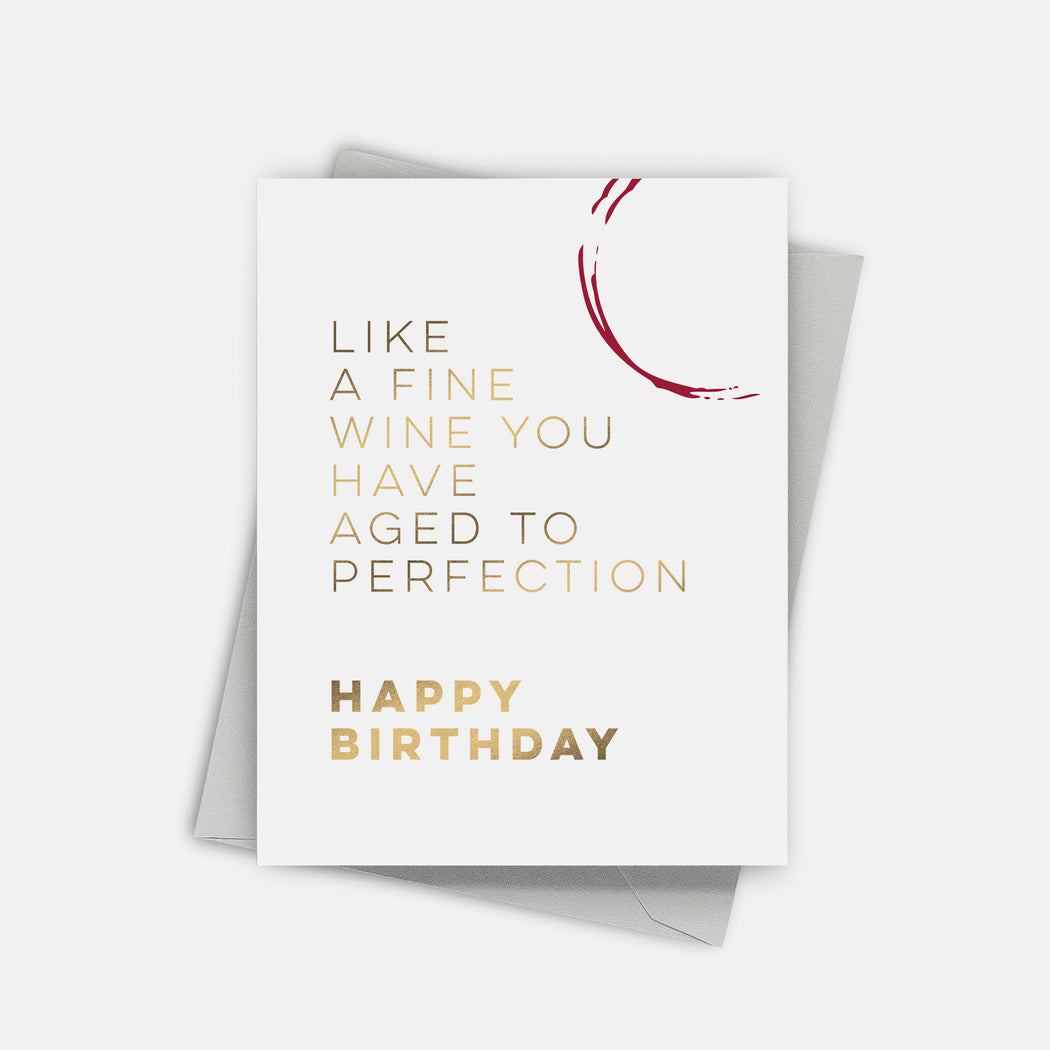 Perfectly Aged Birthday Card