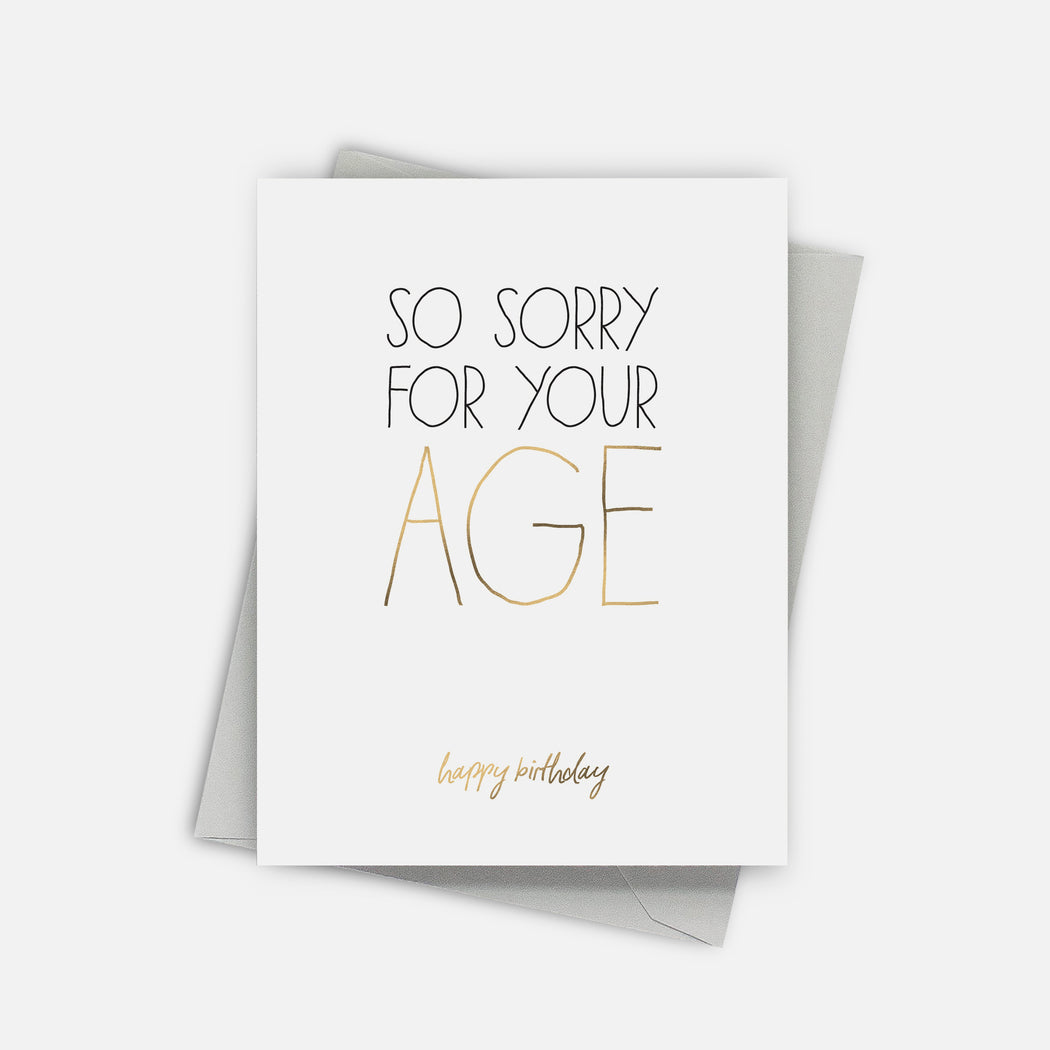 Birthday Apologies Card