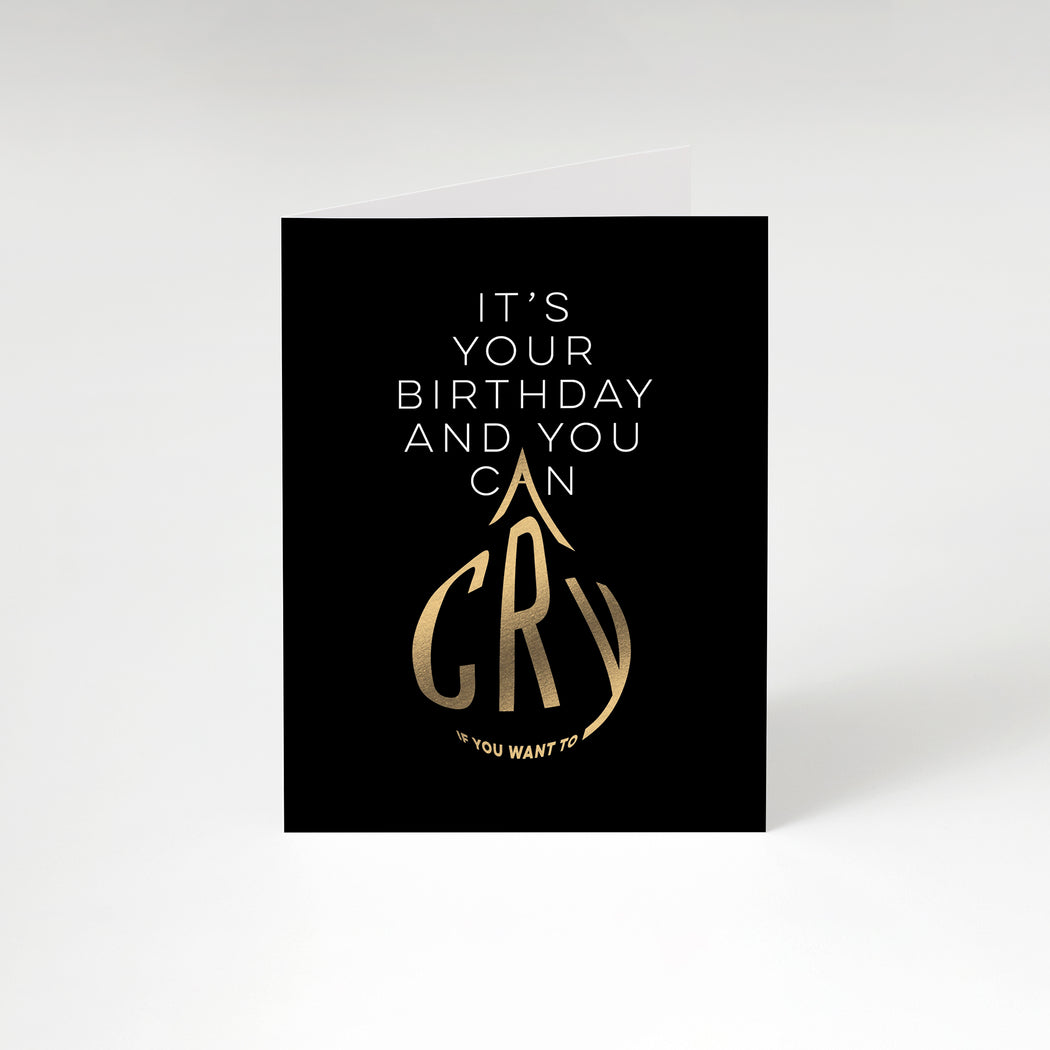 Crying Birthday Card