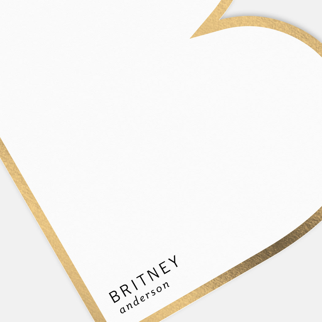 Big B Personalized Stationery – Detail View