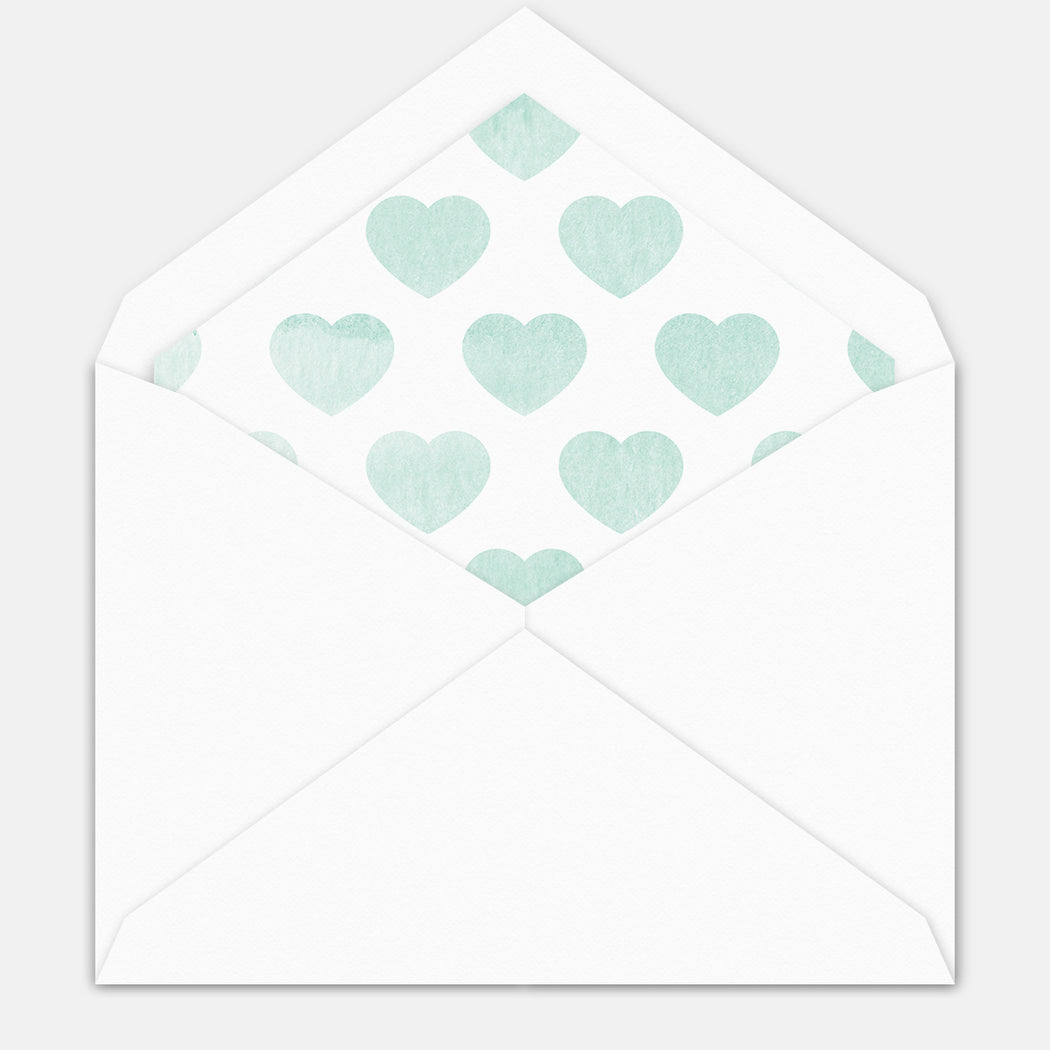 Big Heart Birth Announcement – Envelope Liner