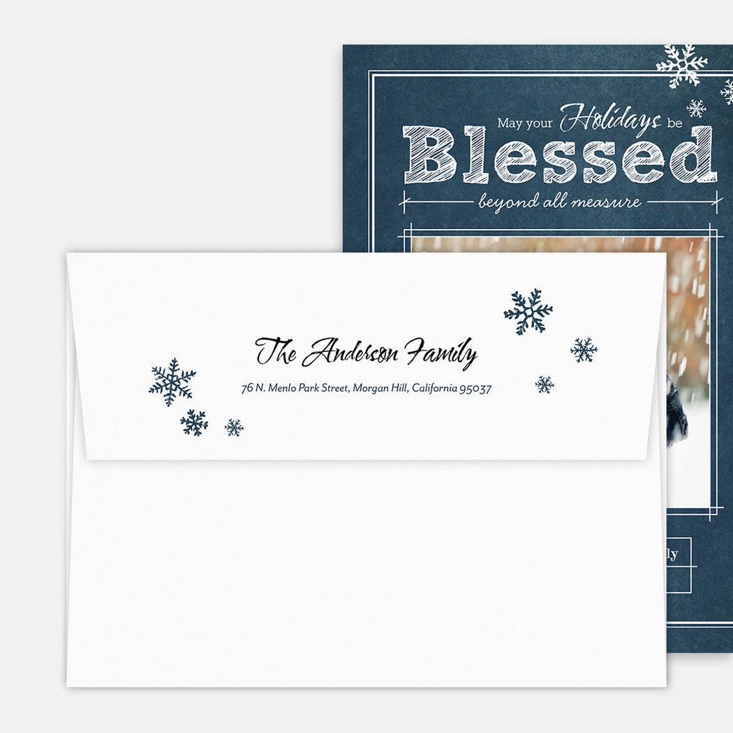 Blueprint Blessings Holiday Cards – Printed Return Address