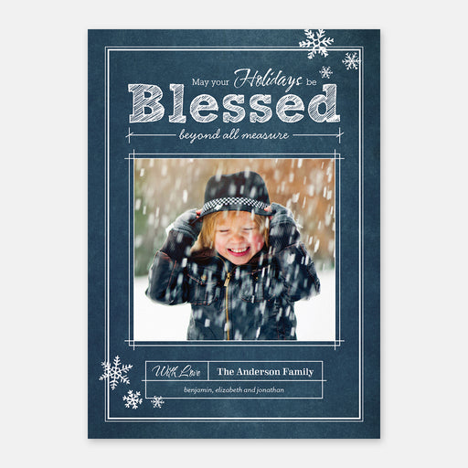 Blueprint Blessings Holiday Cards – Front View