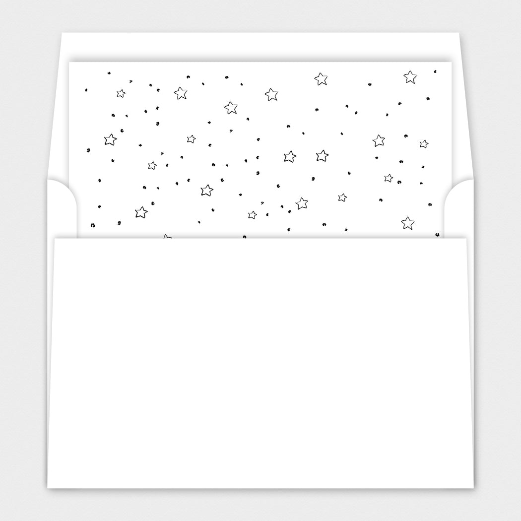 Bottle Centric Baby Shower Invitations – Envelope Liners