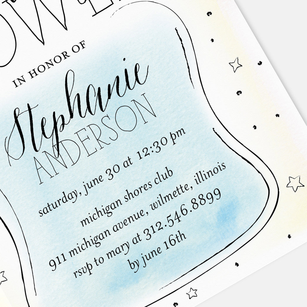 Bottle Centric Baby Shower Invitations – Detail View