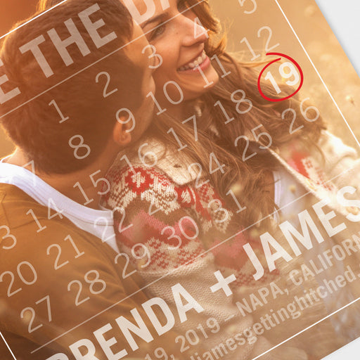 Calendar Overlay Save The Date Cards – Detail View