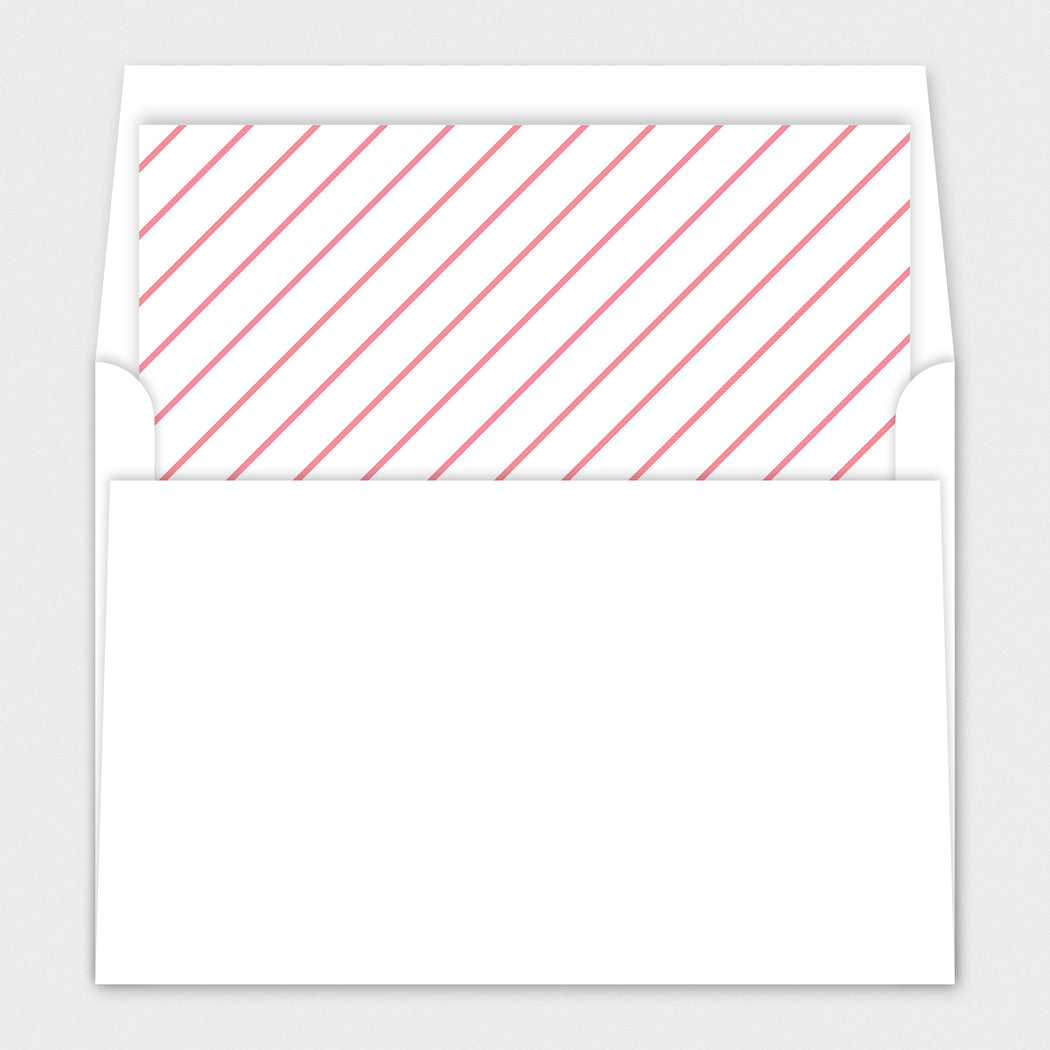 Carriage Heart Baby Shower Invitations – Envelope Liners
