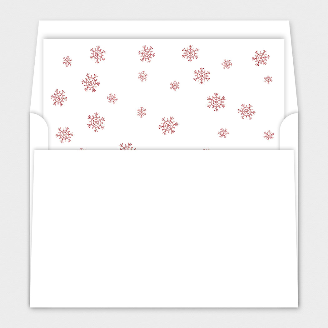 Centered Script Holiday Cards – Envelope Liner