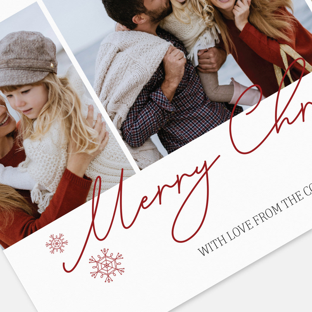 Centered Script Holiday Cards – Detail View