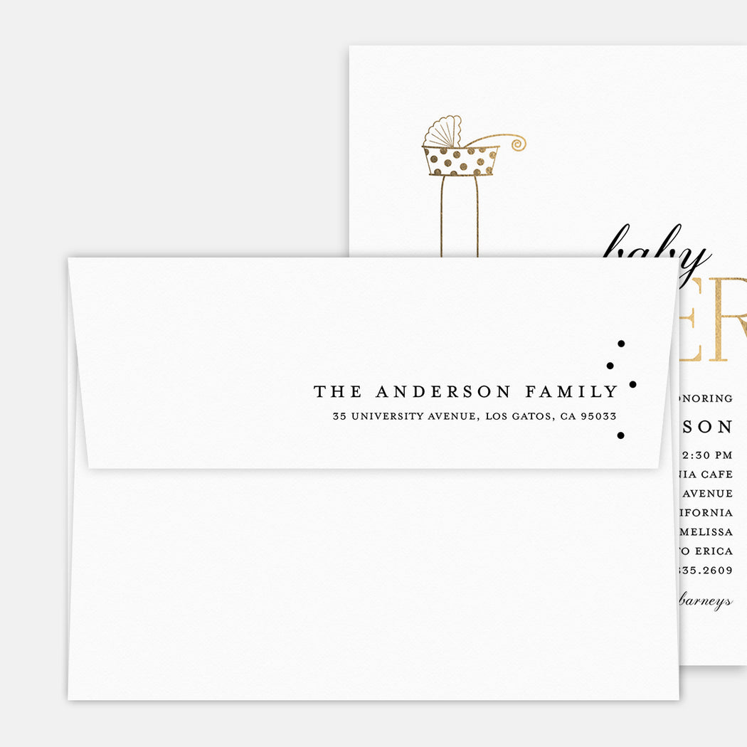 Cool Buggy Birth Announcements – Printed Return Address