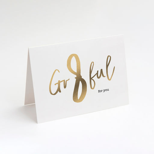 Gr8ful For You Card