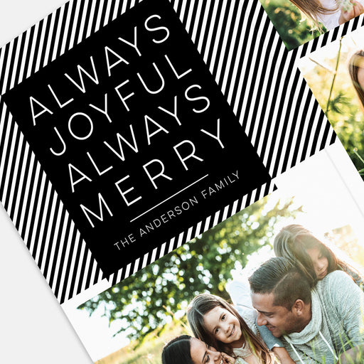 Extended Plaid Holiday Cards – Front Detail