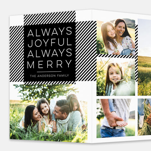 Extended Plaid Holiday Cards – Enlarged Front View