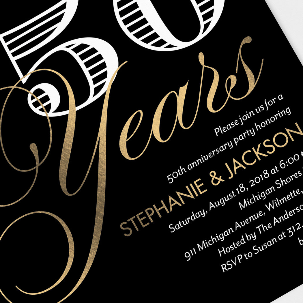 Fifty Years Anniversary Party Invitations – Detail View