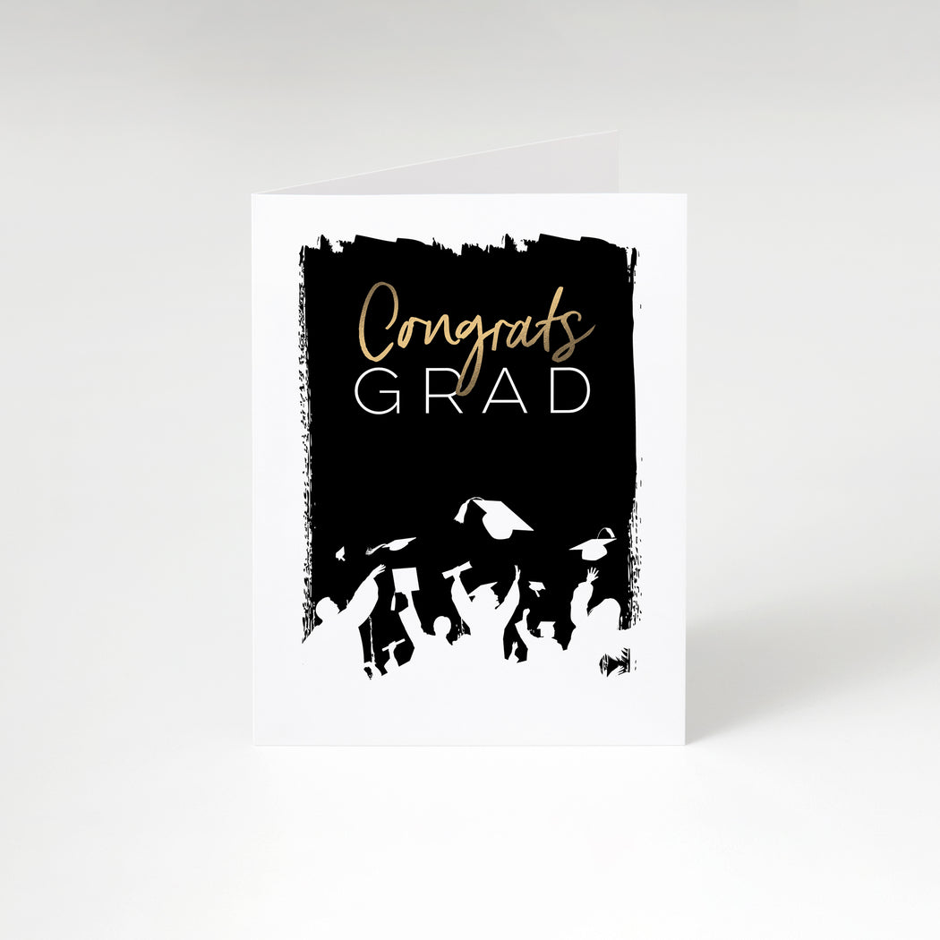 Cap Toss Graduation Card