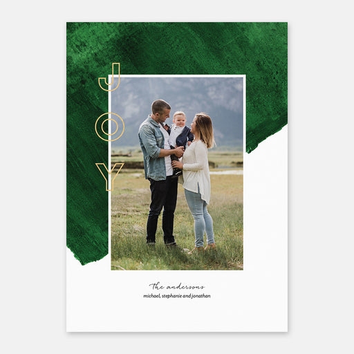 Green Backing Holiday Cards – Front View