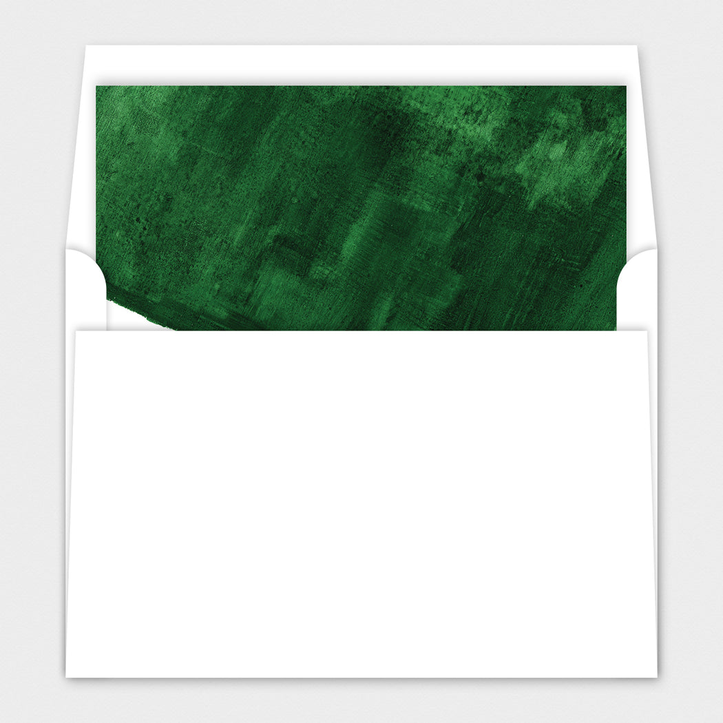 Green Backing Holiday Cards – Envelope Liners