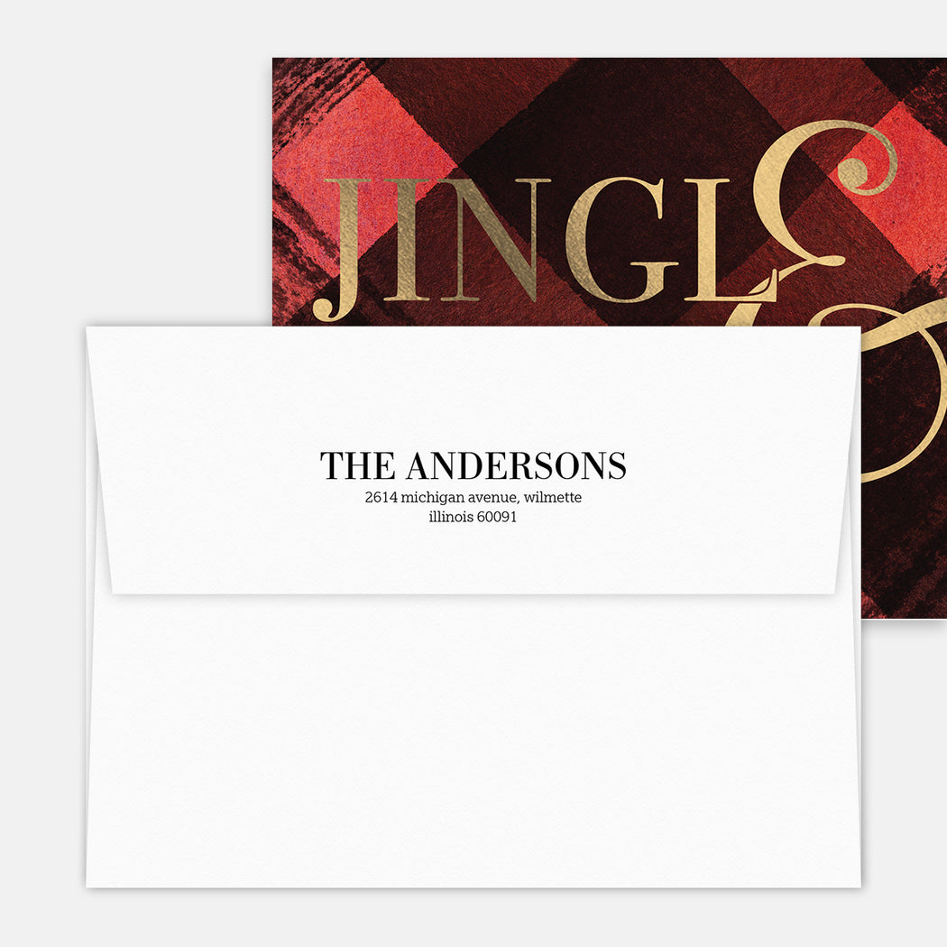 Jingle & Mingle Holiday Party Invitations – Printed Return Address