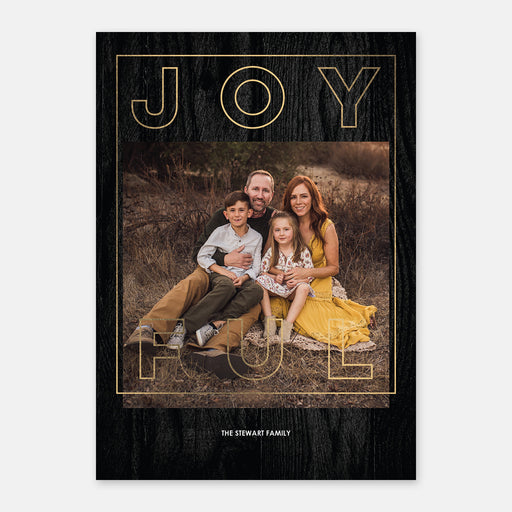 Joyful Outline Holiday Cards – Front View