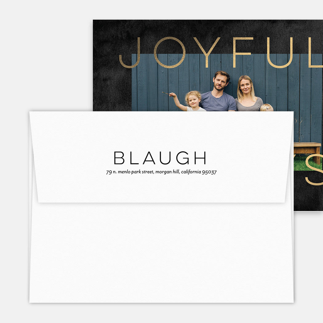 Joyful Always Holiday Cards – Printed Return Address