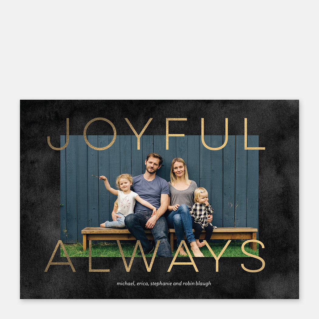 Joyful Always Holiday Cards – Front View