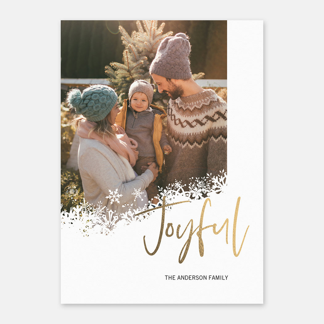 Joyful Snow Holiday Cards – Front View
