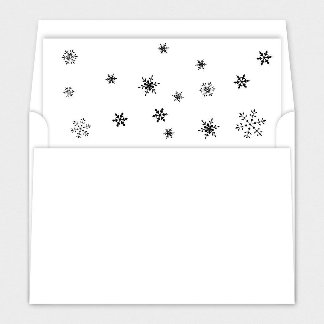 Joyful Snow Holiday Cards – Envelope Liners