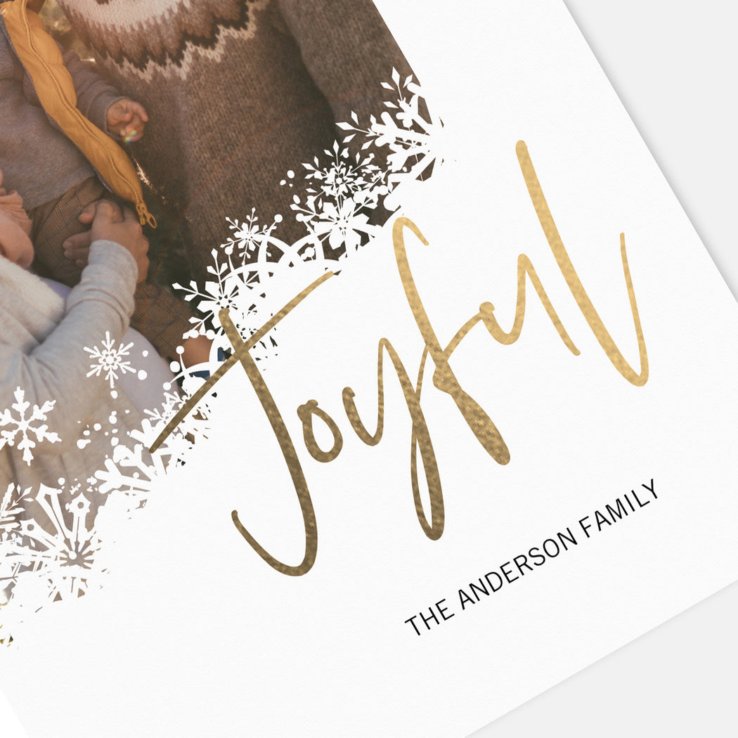 Joyful Snow Holiday Cards – Detail View