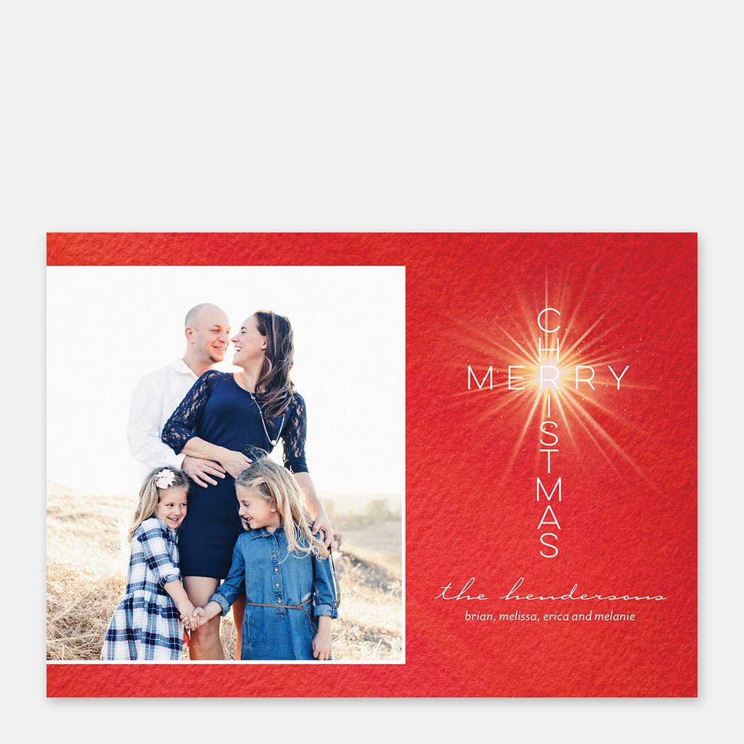 Merry Cross Holiday Cards – Front View