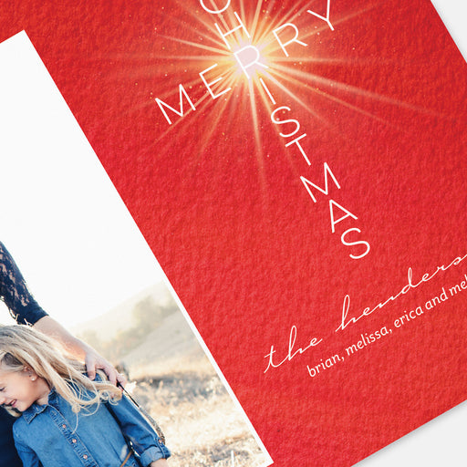 Merry Cross Holiday Cards – Detail View