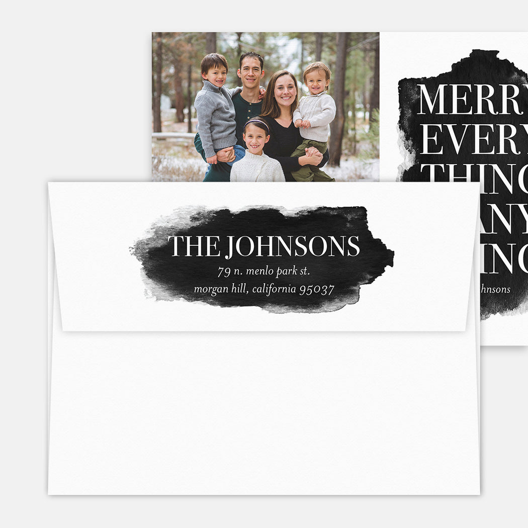 Merry Everything Holiday Cards – Printed Return Address