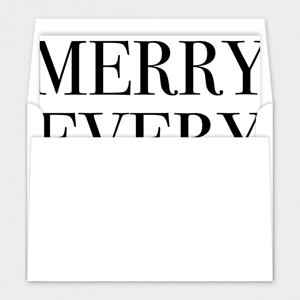 Merry Everything Holiday Cards – Envelope Liners