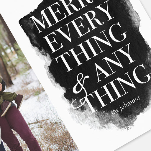 Merry Everything Holiday Cards – Detail View