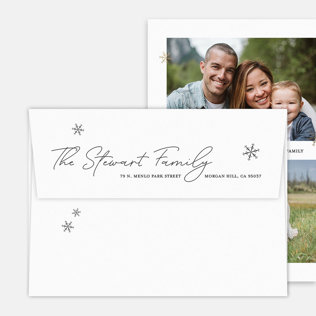 Merry Flakes Holiday Cards – Printed Return Address