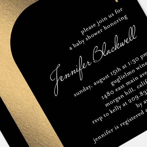 Modern Bottle Baby Shower Invitations – Detail View