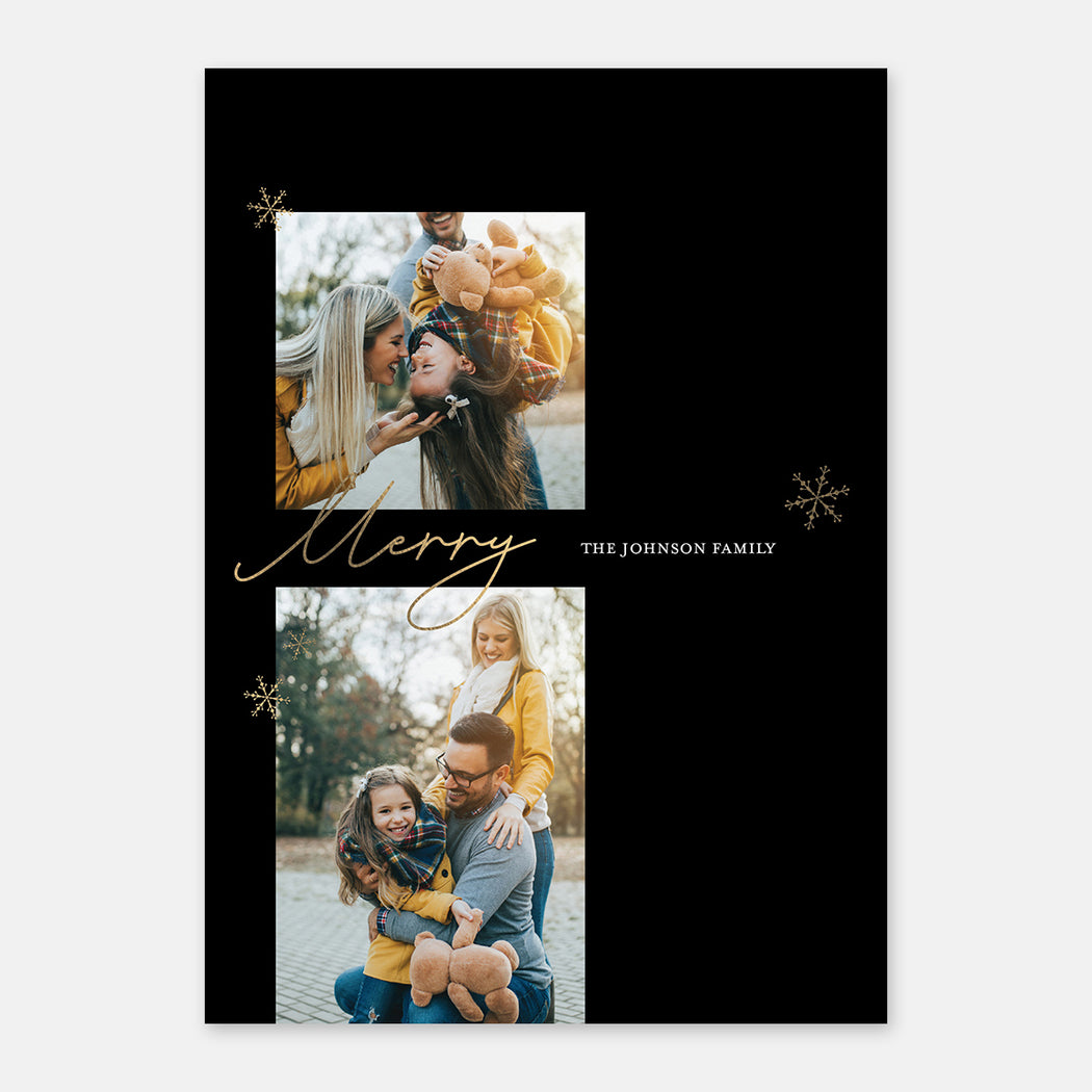 Modern Merry Holiday Cards – Front View