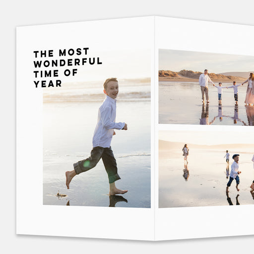 Modern Spread Holiday Cards – Enlarged Front View