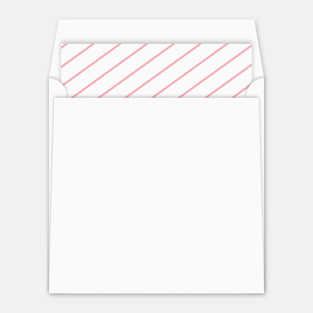 Modern Square Birth Announcements – Envelope Liner